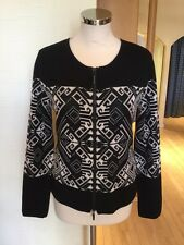 Faber Cardigan Size 18 BNWT Black Cream RRP £137 Now £40