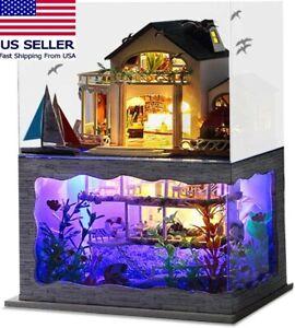 DIY Impression Hawaii Miniature Dollhouse Villa/ Underwater Ocean Model Kit