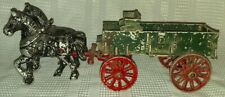 VINTAGE Stanley metal Black Red green Horse and Buggy Make OFFER Unique look