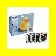 4 x ORIG. CARTUCCE EPSON t0556 Stylus Photo rx400 rx420 rx425 r240 r245 t0551-4