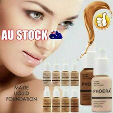 PHOERA Soft Matte Full Coverage Liquid Foundation Concealer Longlasting AUS %N