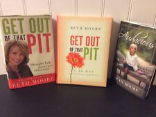 3 Beth Moore Hardcover~Get Out Of That Pit with Devotional + Audacious