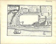 Antique map, Bourg sur Garonne (Bourg sur Gironde)