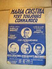 Partitura Maria Christina veut toujours commander Los Camagueyanos De Rico