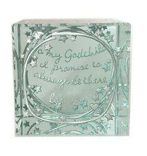 Spaceform Glass Layered Paperweight Godchild Keepsake Christening Gift Box 1956