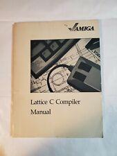 Commodore Amiga Computer Lattice C Compiler Manual 1985