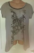 Evans Crew Neck Short Sleeve Plus Size T-Shirts for Women