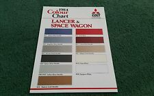 May 1984 MITSUBISHI Colt SPACEWAGON & LANCER UK COLOUR CHART BROCHURE