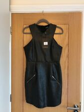 MISSGUIDED Women's Sleeveless Faux Leather Bodycon Short Dress Size 12 - NEW