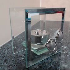 Single Butterfly Glass Mirror T-lite holder