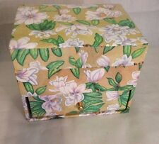 Floral Paper Jewelry Box cardboard gift ring earrings storage case with Mirror