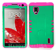 KoolKase Hybrid Silicone Cover Case for AT&T LG Optimus G E970 - Green (R)