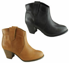 Leather Pull On Heels for Women