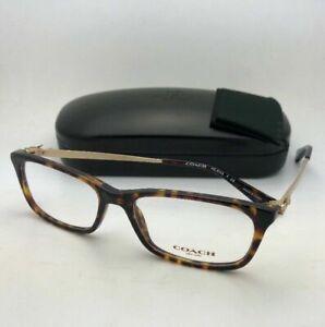New COACH Eyeglasses HC 6110 5485 52-16 140 Dark Tortoise & Gold Frame