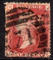 1864 SG 43 1d rose-red 'JK' Plate 92 with London Duplex Cancellation