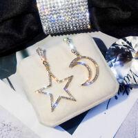 Elegant Moon Drop Earrings Asymmetric Star And Moon Earrings For  Women Jewelry
