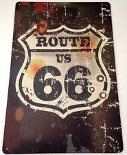 Retrò Parete IN METALLO SIGN TIN Placca Vintage Shabby Chic GARAGE ROUTE 66 USA ci auto