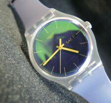 Swatch Watch New Gent POLAPURPLE SUOK712 Silicone Originals Plastic 41mm Quartz