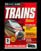 Train Simulator Deluxe PC DVD ROM 3 cd set Create and trains from lineside