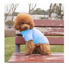 Hundebekleidung Hundeshirt T - Shirt Hundepolo Poloshirt Chihuahua Yorky Blau L