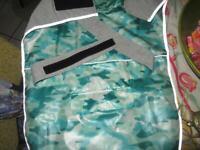 Comfortland Adjustable Dog Raincoat Teal Camo Size Large