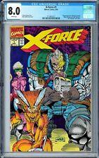X-Force #1 CGC 8.0 (Aug 1991, Marvel) Nicieza story Rob Liefeld wraparound cover