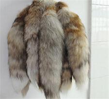 1pcs Genuine Red Fox/Silver Fox Tail Key Chain Fur Tassel Bag Tag Charm F0004
