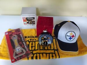Pittsburgh Steelers NFL Collectable  bundle hat Ornament towel bottle opener + ?