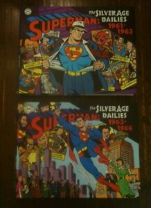 SUPERMAN: SILVER AGE DAILIES 2 volume hardcover hc LOT! NEW and NEVER READ!