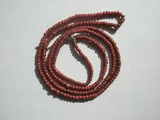 Antique Venetian Pink White Heart sm Pony Trade Beads - 3-3.5mm - Str
