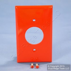 """Leviton Red 1.406"""" UNBREAKABLE Receptacle 1-Gang Wallplate Outlet Cover 80704-R"""