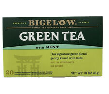 NEW Bigelow Green Tea MINT 20 BAGS Antioxidants Natural (2 Pack) Made 🇺🇸 💯 %