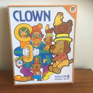 1990's Retro Diset CLOWN 24 Piece Jigsaw Puzzle- Made In Spain (B32)