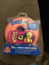 """Looney Tunes Camera 35mm Point and Shoot Vintage Kids Camera """"Tweety� New! 1999"""