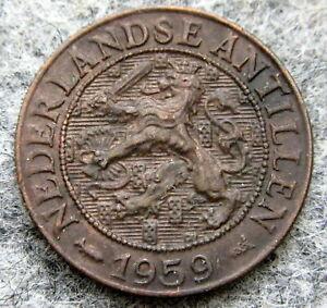 NETHERLANDS ANTILLES JULIANA 1959 1 CENT, BRONZE