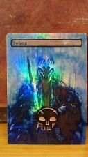 FOIL MTG SWAMP ALTERED ART LORD OF THE RINGS SAURON WITCH KING OF ANGMAR EDH