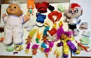 Vintage Troll Collection - Mixed Lot Of 14 Troll Dolls clothes shoes glasses