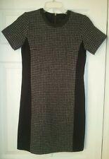 J Crew Petite Womens mixed houndstooth dress $168 #B3698 charcoal sz P6 petite 6