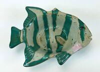 Chamberlain Stamped Ceramic Glazed Sun Fish Pottery Dish Bowl