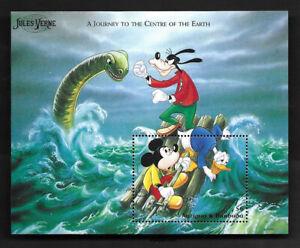 Antigua & Barbuda Journey Centre of Earth Mickey Mouse Donald Duck S/S Disney