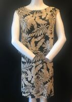 BNWT ELVI Women's Plus  Size Palm Print Sleeveless Backless Dress UK 26 RRP £65