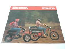 NOS 1980 Honda CT110 CT70 Dealer Brochure L829