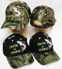 Catch & Release Trout Fishing Camouflage Camo Embroidered Cap Hat 936