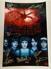Stranger Things cast signed autographed 8x12 photo Winona Ryder Millie Brown COA