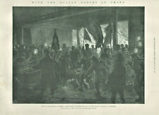 Antique Illustrated Print Force In China Fire Li Hung Chang Viceregal Yamen 1901