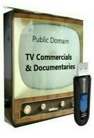 Over 2000 Public Domain Classic TV Commercials on USB Drive +BONUS Documentaries