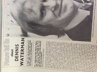 m9-9m ephemera 1970/s film article dennis waterman