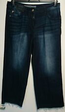Next vintage jeans cropped wide leg uk 12 bnwt blue