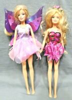 Barbie doll Mariposa Fairytopia 2007 Mattel no wings lot of 2 12 inches tall