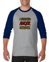 Gildan Raglan T-shirt 3/4 Sleeve I Flunked Anger Management Funny